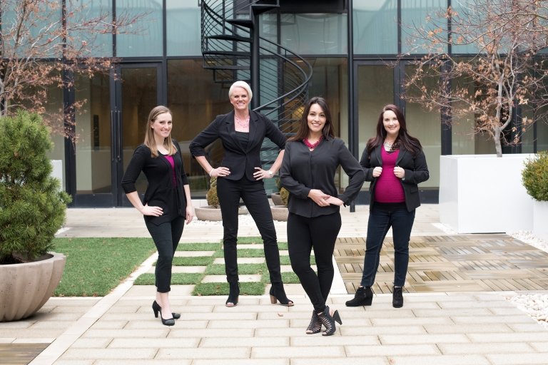 Salt Lake City real estate team captured by Utah photographer Purple Moss